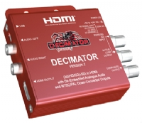 Decimator Design DECIMATOR 2 3G/HD/SD-SDI to NTSC/PAL Down Converter with HDMI Output